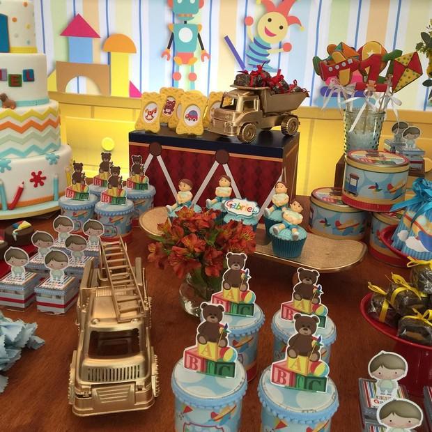 Decoração da festa de aniversário do filho de Fernanda Gentil (Foto: Reprodução do Instagram)