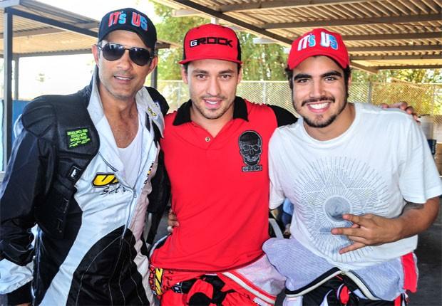 Marcos Pasquim, Rodrigo Andrade e Caio Castro (Foto: Marcia Tavares)