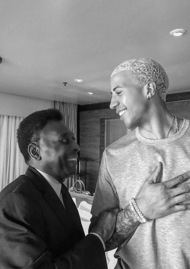Miles Chamley-Watson conheceu Pelé quando estava no Rio de Janeiro (Foto: Instagram/Reprodução)