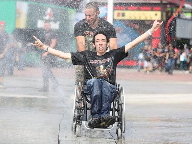 cadeirante cabo frio rock in rio (Foto: Felipe O'Neill / Revista QUEM)