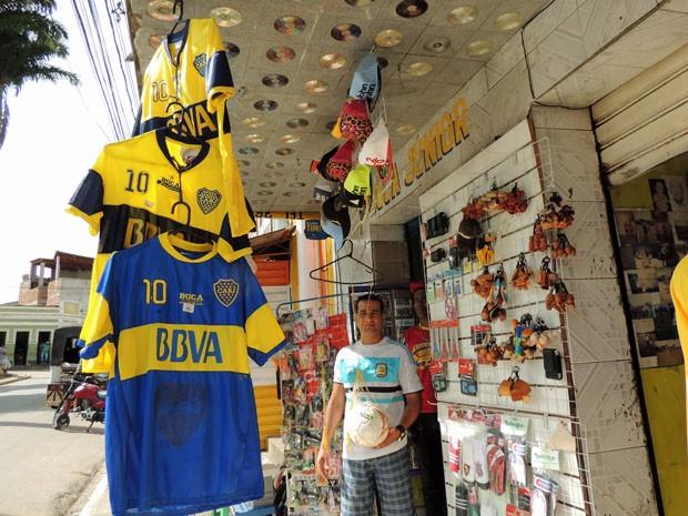 José Paulo Araújo une a paixão pela Argentina ao trabalho (Foto: Katherine Coutinho / G1)