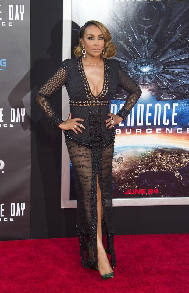 Vivica A. Fox em première em Los Angeles, nos Estados Unidos (Foto: Valerie Macon/ AFP)
