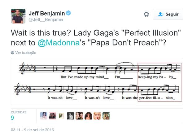 Internautas comentam comparações entre Lady Gaga e Madonna (Foto: Reprodução/Twitter)