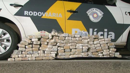 Polícia Rodoviária apreende 125 tabletes de maconha em Santa Rita, SP
