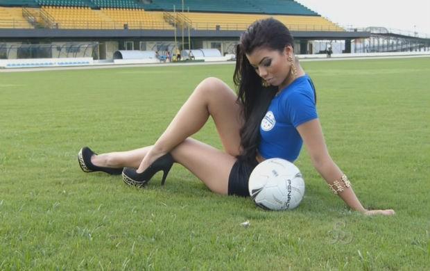 Representante do Macapá Clube ao Musa do Amapazão 2014, Patrícia Tavares (Foto: Reprodução/TV Amapá)