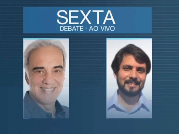 Candidatos a prefeito de Volta Redonda participam de debate na TV Rio Sul (Foto: Reprodução/TV Rio Sul)