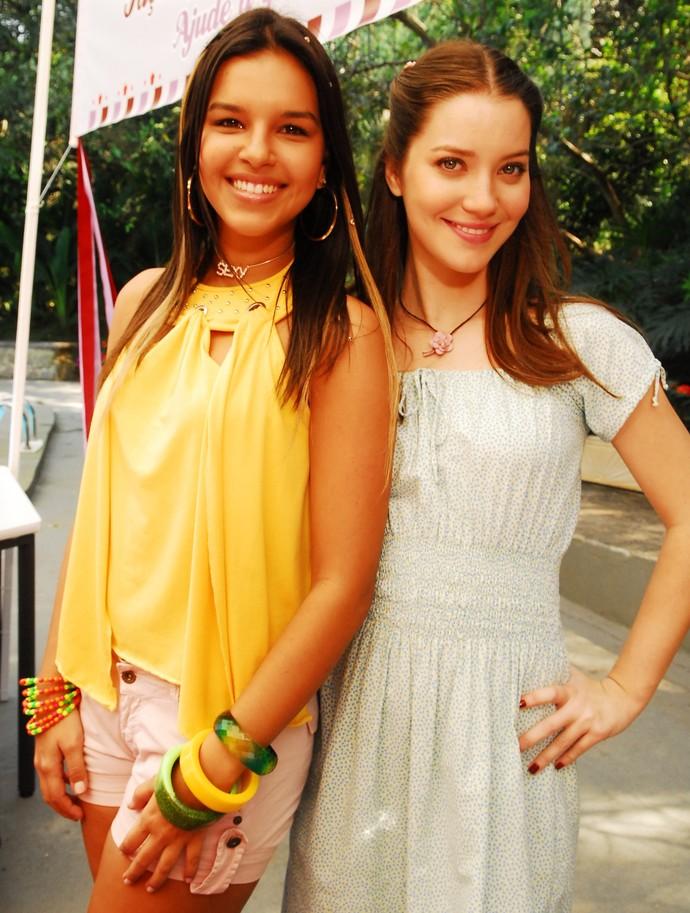 Yasmin (Mariana Rios) e Débora (Nathália Dill) em ação em 'Malhação' (Foto:  TV Globo / João Miguel Júnior)