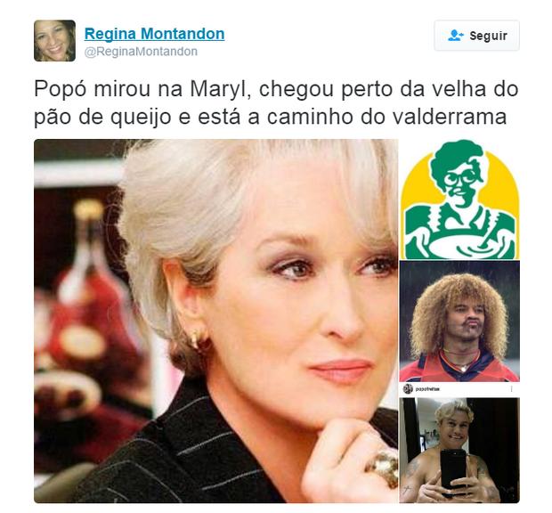Novo visual de Popó vira piada na web (Foto: Reprodução)