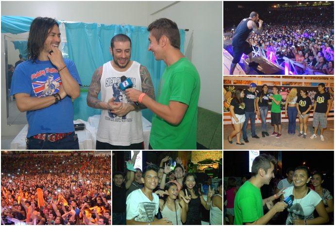 Zapp mostra bastidores de show do CPM22 no Amazonas (Foto: Zappeando)