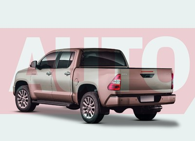 Projeção Toyota Hilux (Foto: Yuri Queiroz)