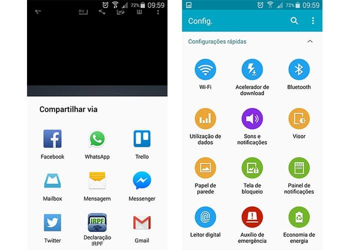 Interface do Android 5.0 Lollipop no menu de configurações (Foto: Reprodução/Barbara Mannara)