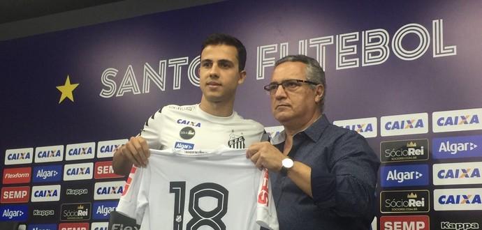 Nilmar com a camisa 18 do Santos (Foto: Gabriel dos Santos)