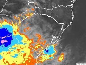 Mapa mostra avanço da instabilidade no estado (Foto: Divulgação/Inpe)