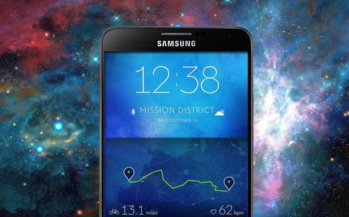 Galaxy S5 terá tela QHD, com resolução de 1.440 por 2.560 pixels (Foto: Arte / TechTudo)