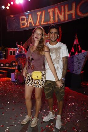 Luana Piovani e Pedro Scooby em festa no Centro do Rio (Foto: Felipe Panfili/ Divulgação)