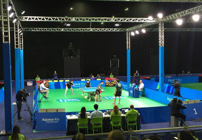 Iluminação evento-teste tênis de mesa (Foto: Thiago Quintella)
