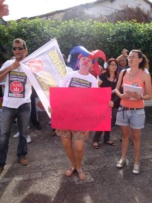 Professores em greve protestam Bahia Salvador (Foto: Danutta Rodrigues/G1)