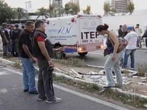acidente moto natal n (Foto: Reprodução/Inter TV Cabugi)