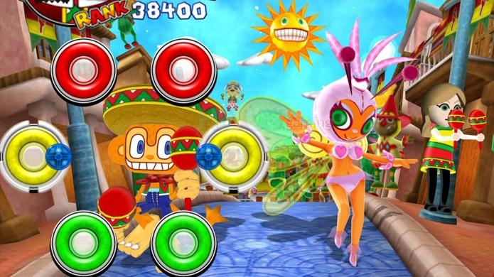 Samba de Amigo teve também uma versão para o Wii, mas esta não é nada recomendada (Foto: hexus.net)