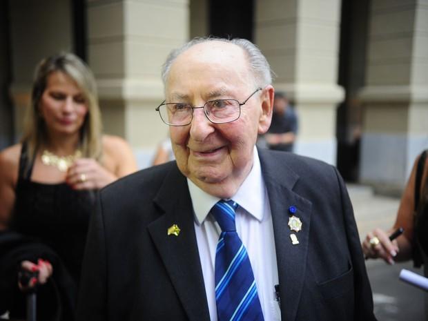 Aleksander Henryk Laks, sobrevivente do Holocausto que vivia no Rio de Janeiro (Foto: Tomaz Silva/Agência Brasil)