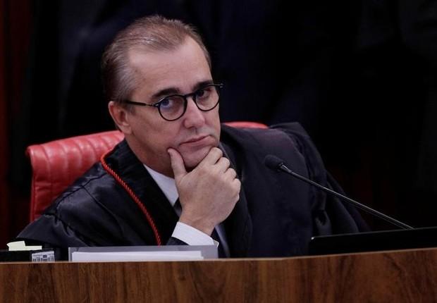 Juiz Admar Gonzaga em julgamento no TSE (Foto: Ueslei Marcelino/REUTERS)