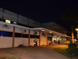 Hospital de Emergências de Macapá, onde a menina está internada (Foto: Graziela Miranda/ G1)