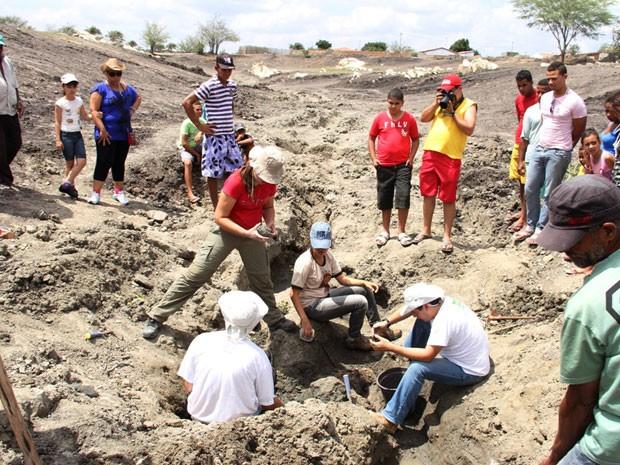 Fósseis Lagoa Escura Bahia (Foto: Raimundo Mascarenhas/Calila Notícias)