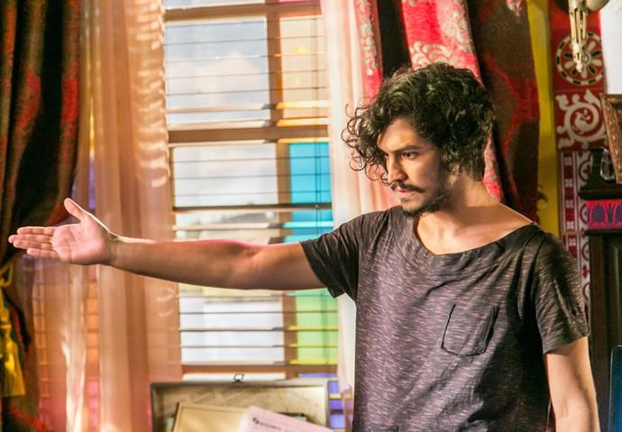 Miguel reforça suas ideias para Afrânio (Foto: Paulo Belote/ TV Globo)