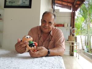 Luiz Carlos da Cruz se orgulha do apelido; na infância, no entanto, não gostava (Foto: Carolina Paes/G1)