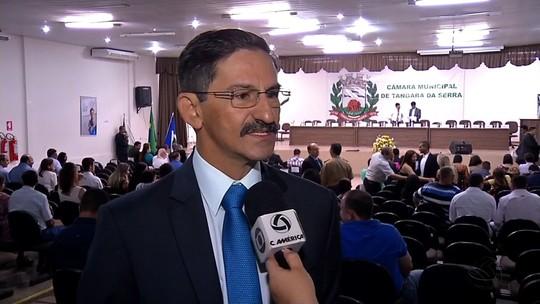 Fábio Junqueira é empossado como prefeito em Tangará da Serra (MT)