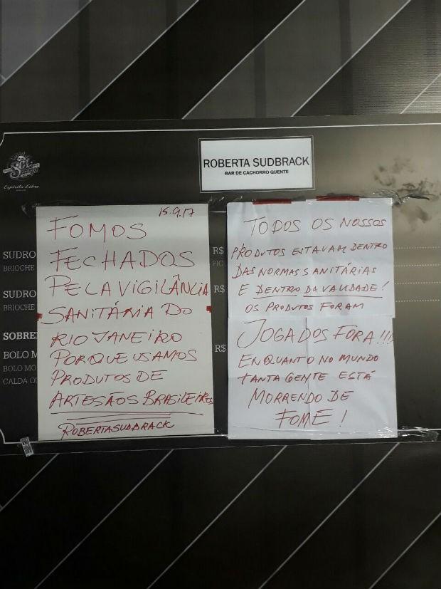 Chef fala sobre batida da vigilância sanitária (Foto: Arquivo pessoal)
