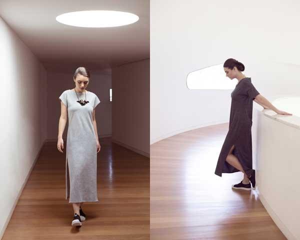 Ada aposta em vestidos minimalistas e veganos (Foto: Divulgação)