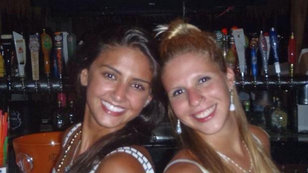 Camila Ururahy e Marcela Pereira nado sincronizado flamengo (Foto: Reprodução/Facebook)