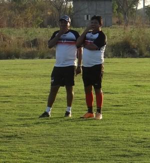 Flávio Barros, treinador do River-PI (Foto: Wenner Tito)