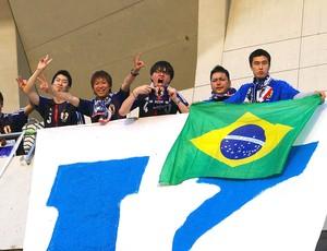 torcida Japão jogo Austrália eliminatórias (Foto: Osny Arashiro)