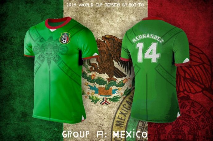 Blog da Copa - design camisa do México