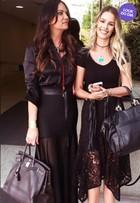 Look do dia: Luiza e Yasmin Brunet arrasam no pretinho nada básico