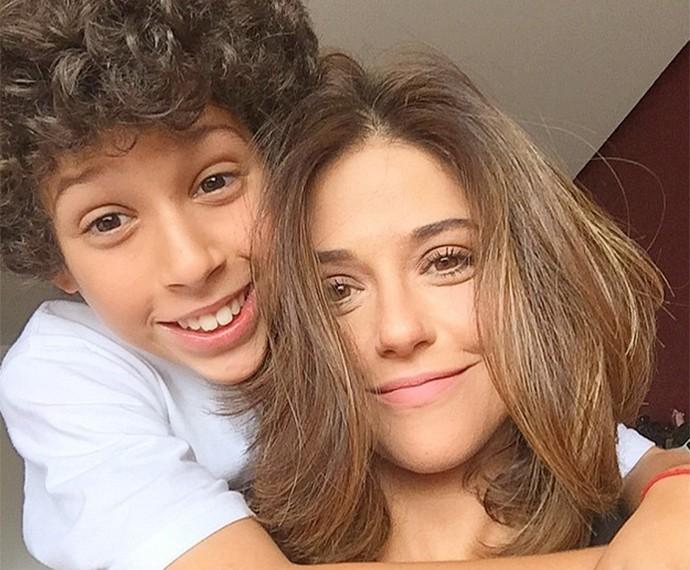Priscila Sol e o filho Vitor (Foto: Arquivo Pessoal)
