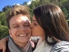 Michel Teló e Thais Fersoza curtem momentos românticos na Colômbia