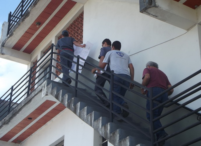 Corpo de Bombeiros realizou uma nova avaliação no estádio Luizão. (Foto: Patrícia Belo)
