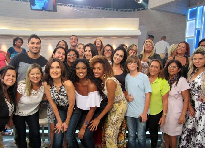 Mais plateia com a Fátima! (Foto: Carolina Morgado/Gshow)
