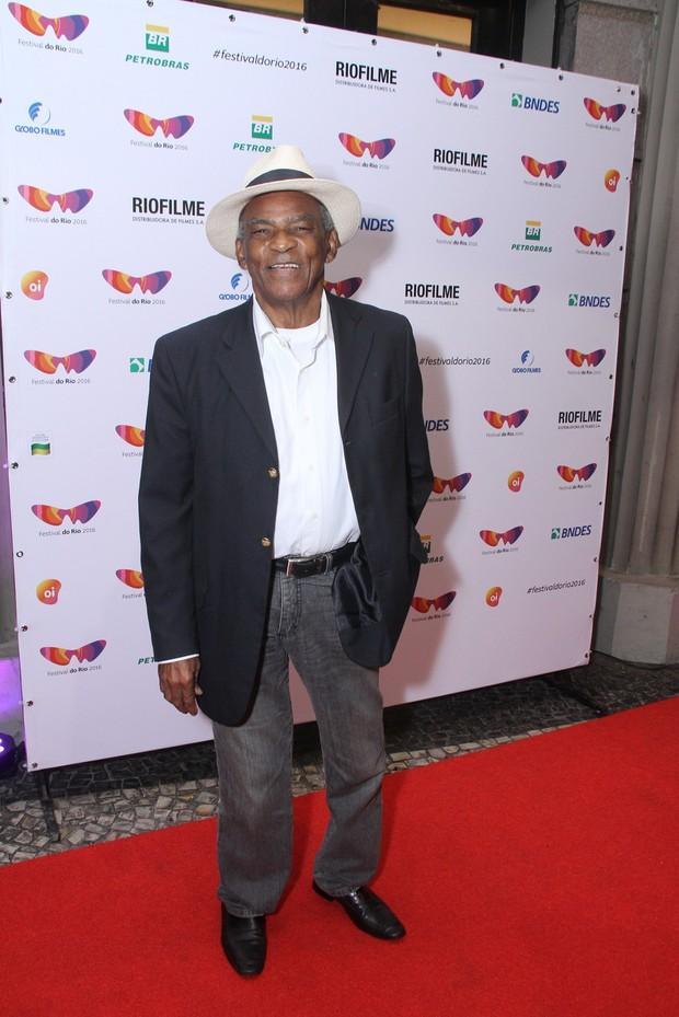 Antônio Pitanga no lançamento do filme O pequeno Segredo, no Festival do Rio (Foto: Ag. News)