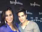 Gata do Paulistão usa vestido justinho em show de Luan Santana