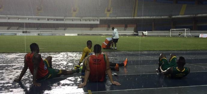 Temporal treino Vasco Mangueirão (Foto: Twitter Oficial Vasco da Gama)