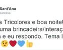 Conectado: Marcelo Sant'Ana usa rede social para tirar dúvida de torcedores