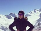 Carol Celico posa estilosa na neve: 'Meu lindo e último dia esquiando'