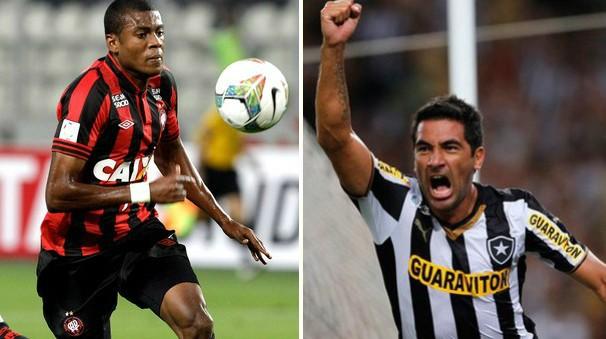 Atlético-PR e Botafogo se enfrentam pelo Campeonato Brasileiro neste domingo. (Foto: Montagem / Globoesporte.com)