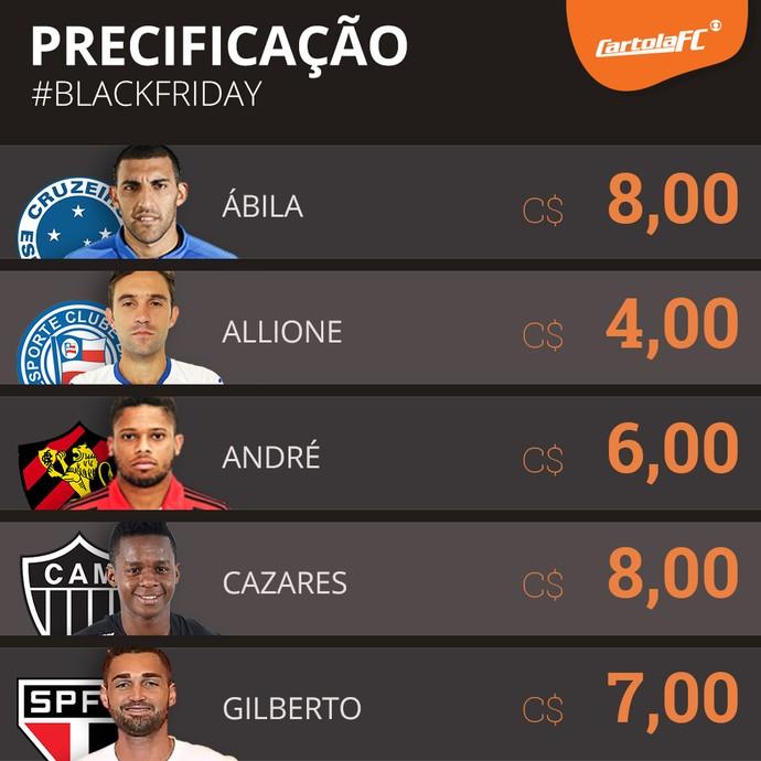 card preços black friday cartola (Foto: GloboEsporte.com)