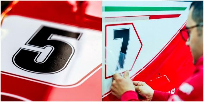 Números Ferrari