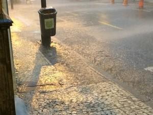 Chuva em Petrópolis (Foto: Arthur Vieira)